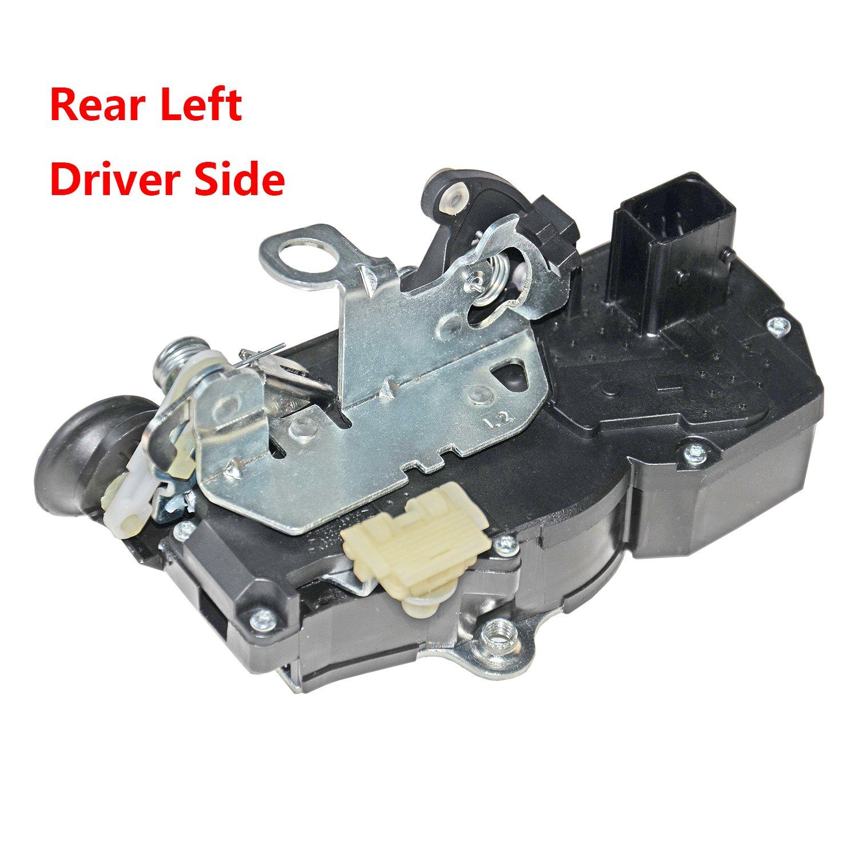 Rear Right Passenger Side Door Lock Actuator Motor For 2007-2009 GMC Yukon Chevy Tahoe Cadillac Escalade 15785127 15896625 20783858 25876390 25873487 GELUOXI