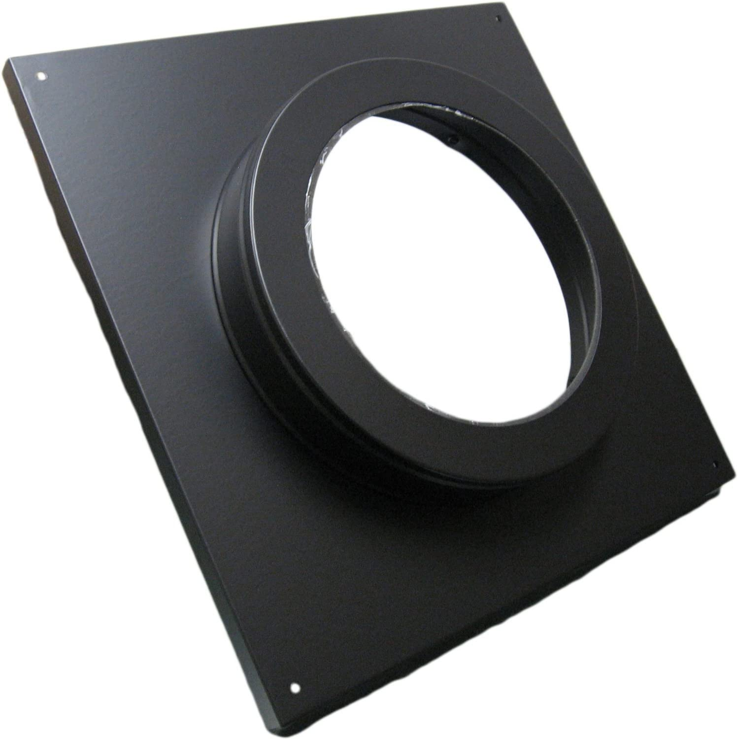 Simpson Dura Vent 46dva Dc Round Ceiling Support Wall Thimble Cover 4 X6 5 8 Direct Vent Black Vents