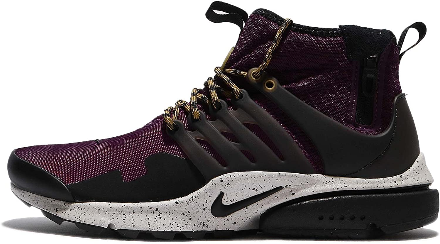 Nike Air Presto Mid Utility Men s Running Shoes Bordeaux Black-Pale Grey 859524-600