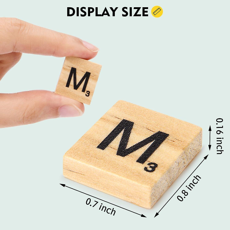 LVEDU 1000Pcs Wooden Alphabet Letter Tiles Scrabble Letters Numbers Crafts Educational Toy for Kids 1000 PCS