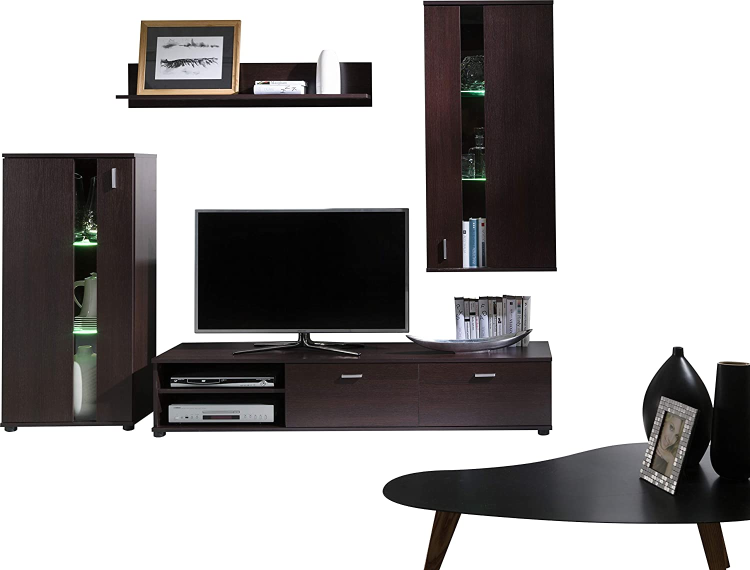 FurniturByJDM TV Wall Unit, TV Table Set, Living Room Set MIRA Large TV  Bench, Free Standing Cabinet Unit, Wall-mounted Shelve and Wall-mounted  Cabinet. (Milano): Amazon.co.uk: Kitchen & Home