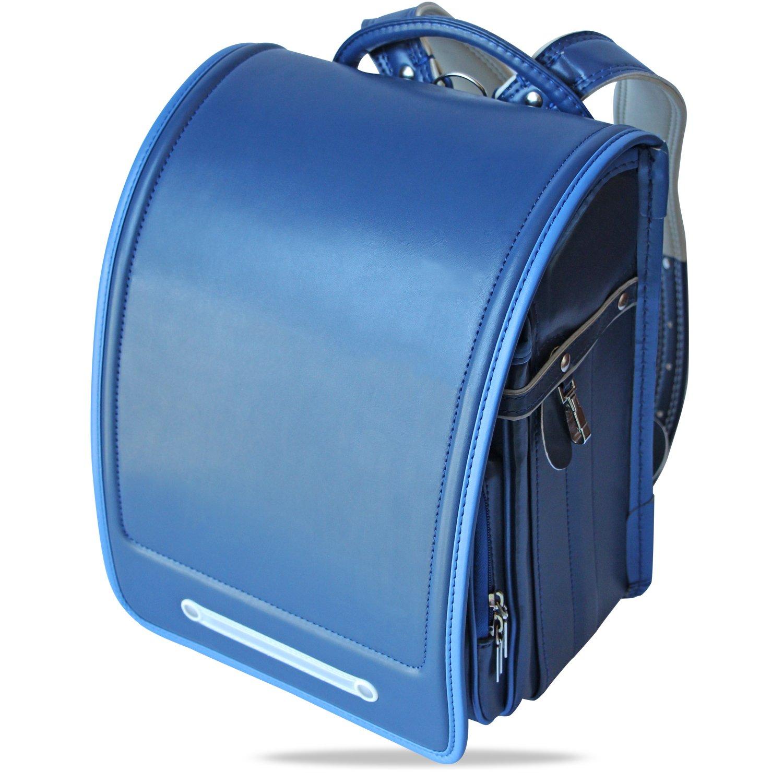 軽量 2017年 ランドセル 男の子 女の子 高級合皮 大容量 半自動 防水仕上げ schoolbag 通学 入学お祝い 小学生通学鞄 5色展開 6年間保証【バオバブの願い】 (ブルー) B06XF5JWGZ ブルー ブルー