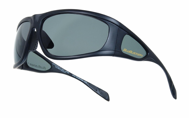 5761f7c8da Amazon.com  BluBlocker Viper Gray Polarized Sunglasses 68mm width lens   Clothing