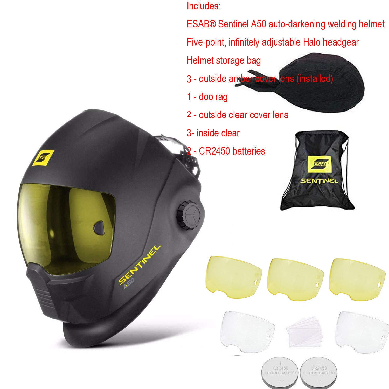 ESAB Sentinel A50 Welding Helmet -0700000800 - Buy one get one SPARCWELD GLOVES!!! by E S A B