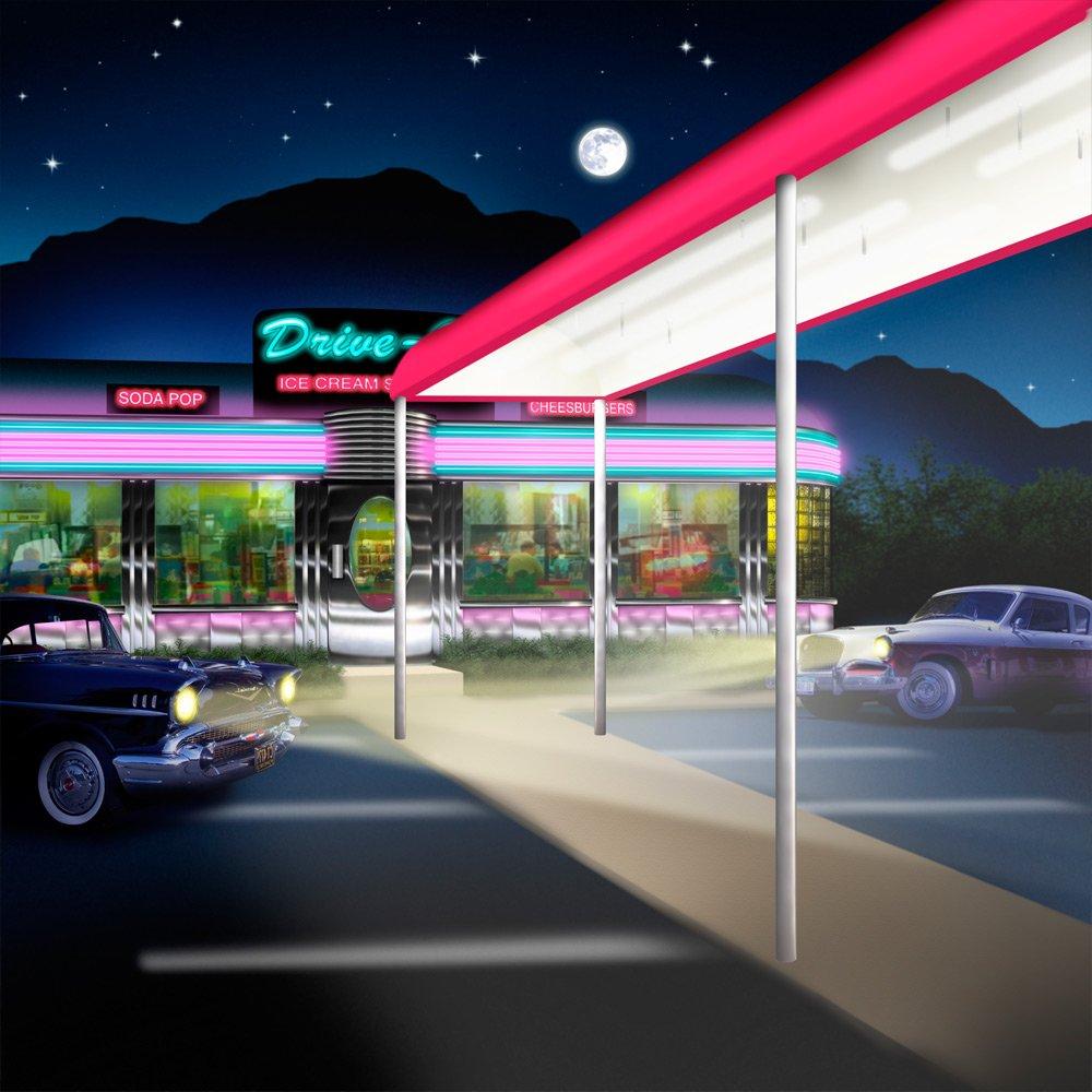写真バックドロップ – Diner Withキャノピー – 10 x 10 ft。 – 100 %シームレスなポリエステル   B00NY9HK9I