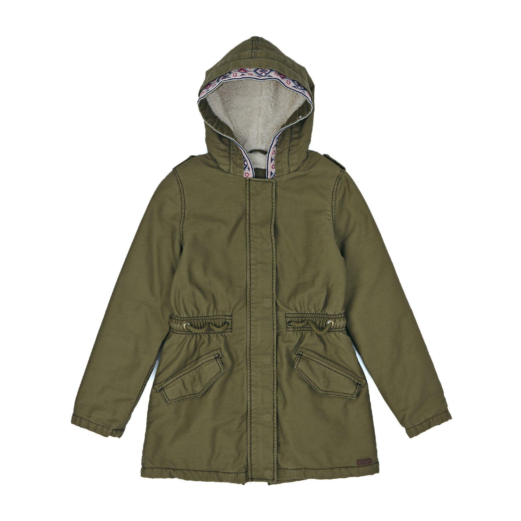 Roxy Jackets - Roxy Summer Storm Sherpa Lined Parka Jacket - Military Olive