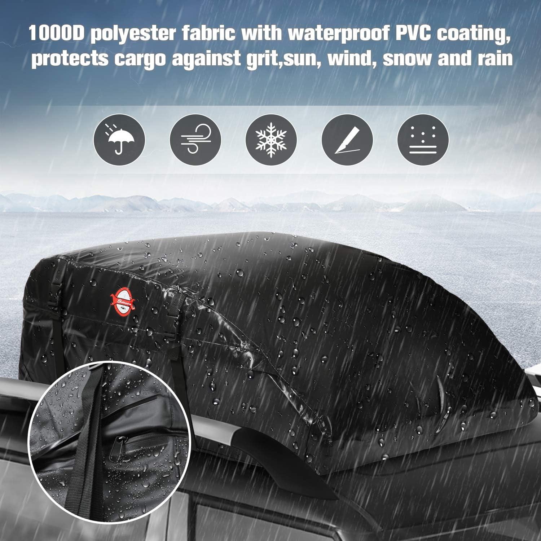 supportMe Cofre Techo de Coche Impermeable Portaequipajes Techo Plegable 460L Maletero Techo Coche Impermeable