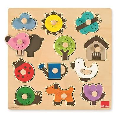 Goula - Puzzle Siluetas, Piezas de Madera (Diset 53118): Juguetes y juegos