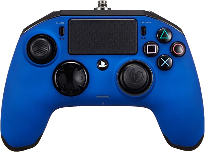 NACON PS4OFPADREVBLUE mando y volante Gamepad PlayStation 4 Negro, Azul - Volante/mando (Gamepad, PlayStation 4, Analógico/Digital, Hogar, Seleccionar, Share, Alámbrico, USB 3.0): Amazon.es: Videojuegos