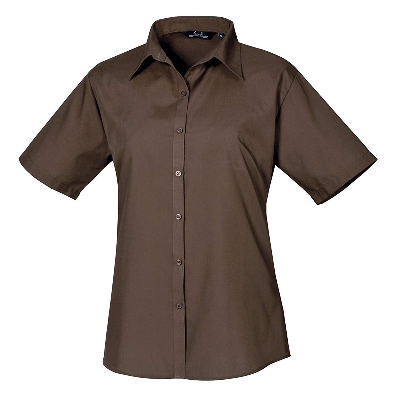 Amazon.com: Premier - Blusa de popelina de mangas cortas ...