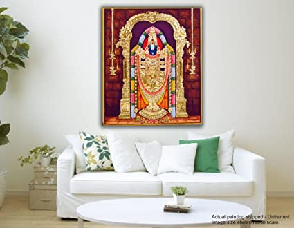 Tamatina Canvas Paintings - Tirupati Balaji - Balaji Paintings for ...
