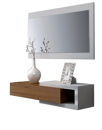 Esidra Mobile Ingresso Moderno in Legno, con Specchio, 95 x 26 x 19 cm