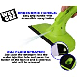 """Weegee 3 in 1 10.5"""" Window Squeegee Cleaner Tool Kit with Spray Bottle, Washable Microfiber Velcro Pad and Silicone Rubber Blade"""