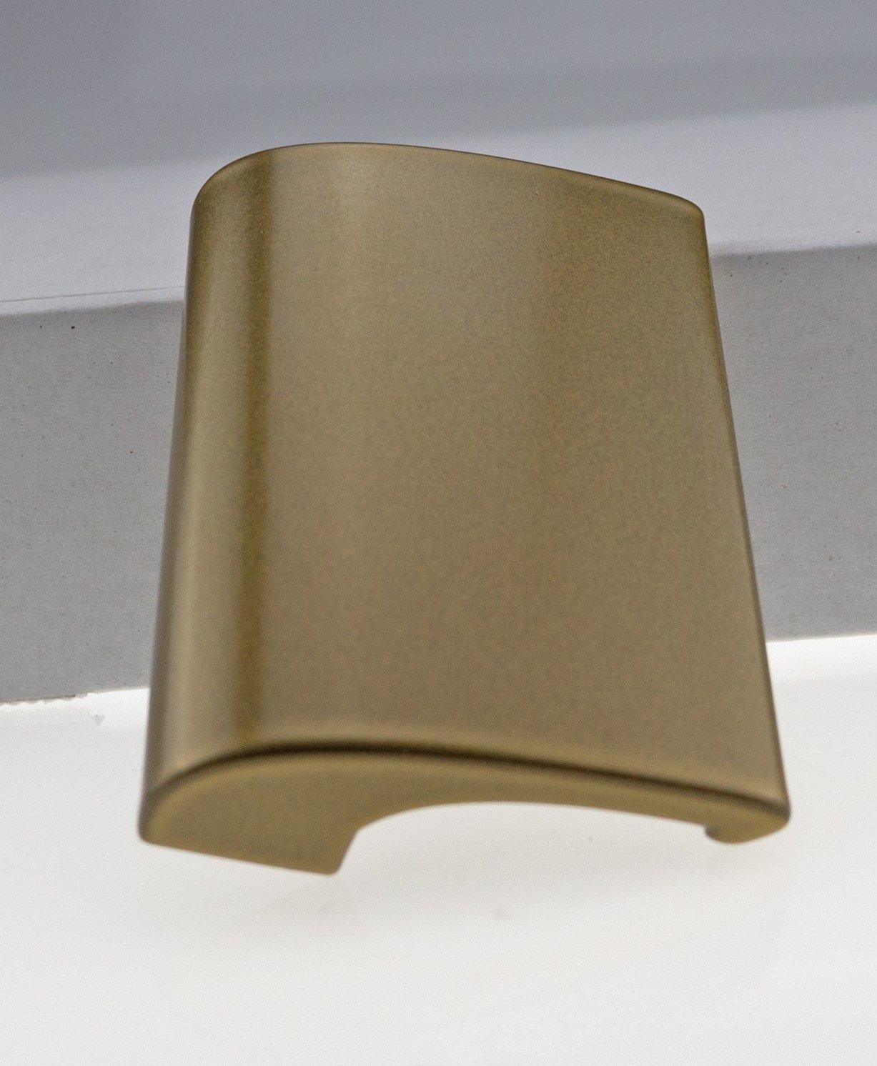 Balkongriff Ziehgriff Terrassentürgriff Deluxe - Aluminium - verschiedene Farbe (braun) BLT