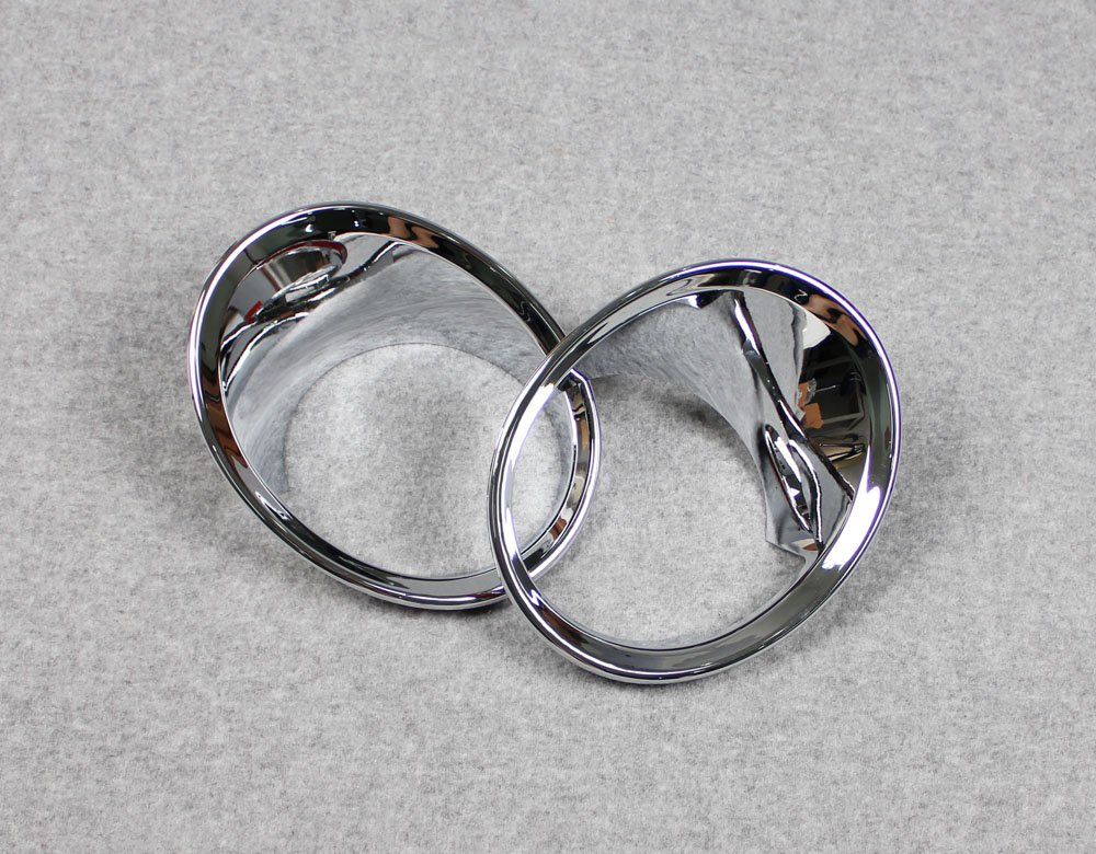 Fit for BMW X1 F48 2016 2017 2018 2019 Chrome Car Front Fog Light Lamp Cover Trim Trims Kate Wenzhou automobile supplies factory