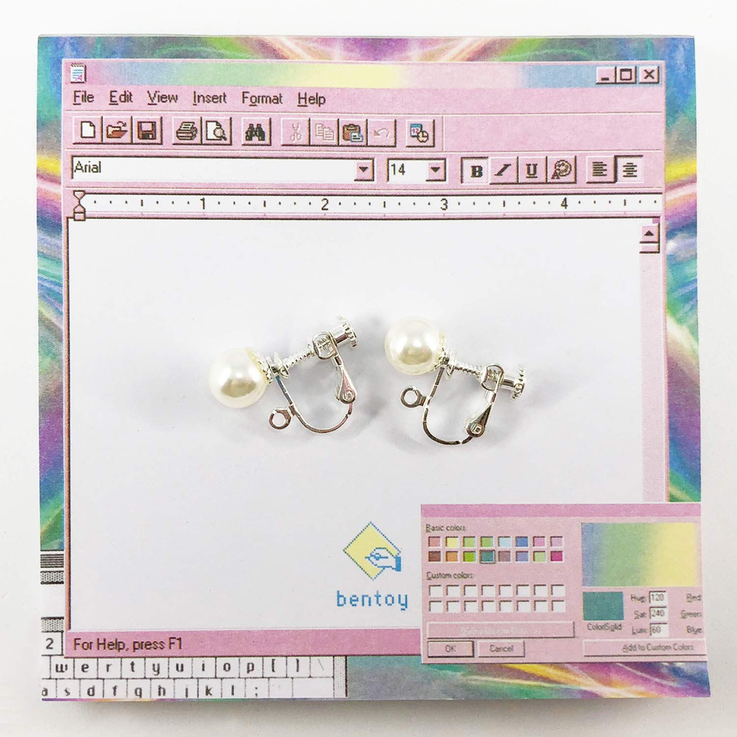 CUTIFICIAL Moon Pearl Earrings For Women and Girls Clip-on Exchange Available
