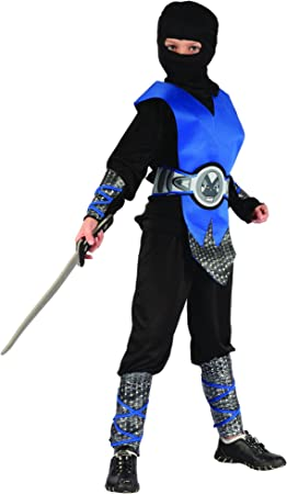 Disfraz ninja azul niño - 7 - 9 años: Amazon.es: Juguetes y juegos