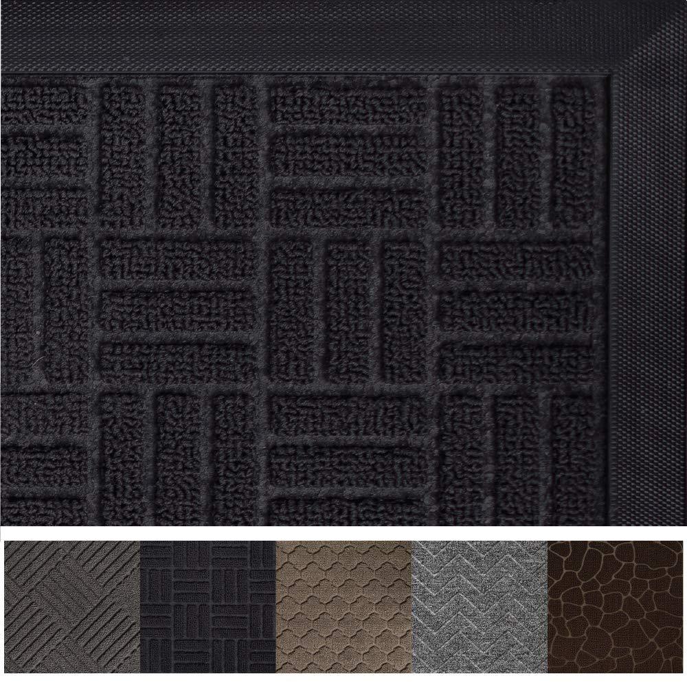 Gorilla Grip Original Durable Rubber Door Mat, 72 x 24, Heavy Duty Runner Doormat for Indoor Outdoor, Waterproof, Easy Clean, Low-Profile Rug Mats for Entry, Patio, High Traffic Areas, Black Maze