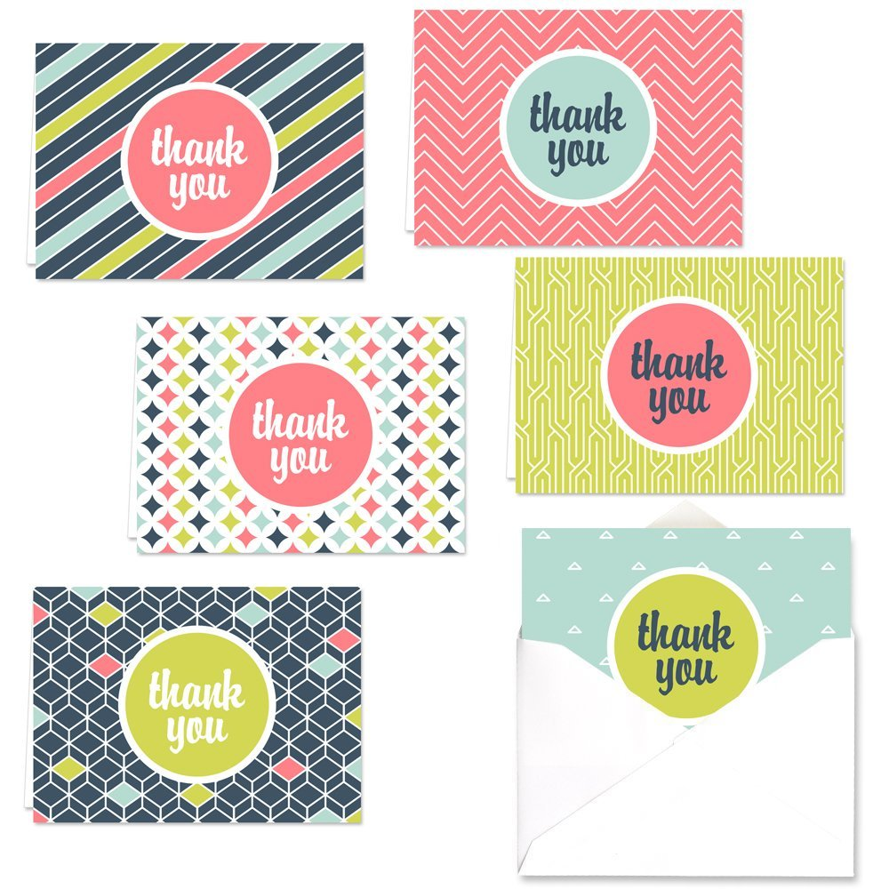 Amazon Damask Thank You Note Cards 36 Thank You Cards 6