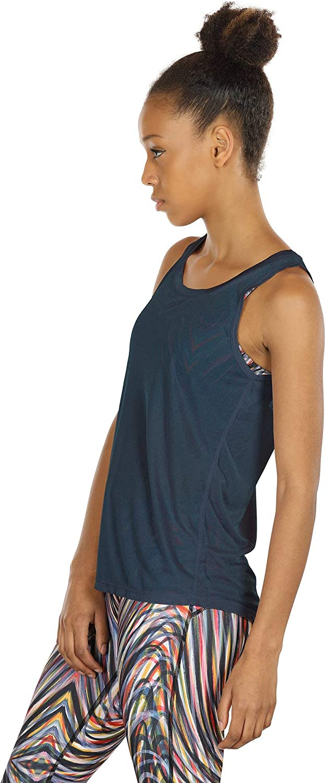Tops sans Manches Exercice Yoga Shirt icyzone Dos Ouvert D/ébardeur de Sport Femme Paquet de 2