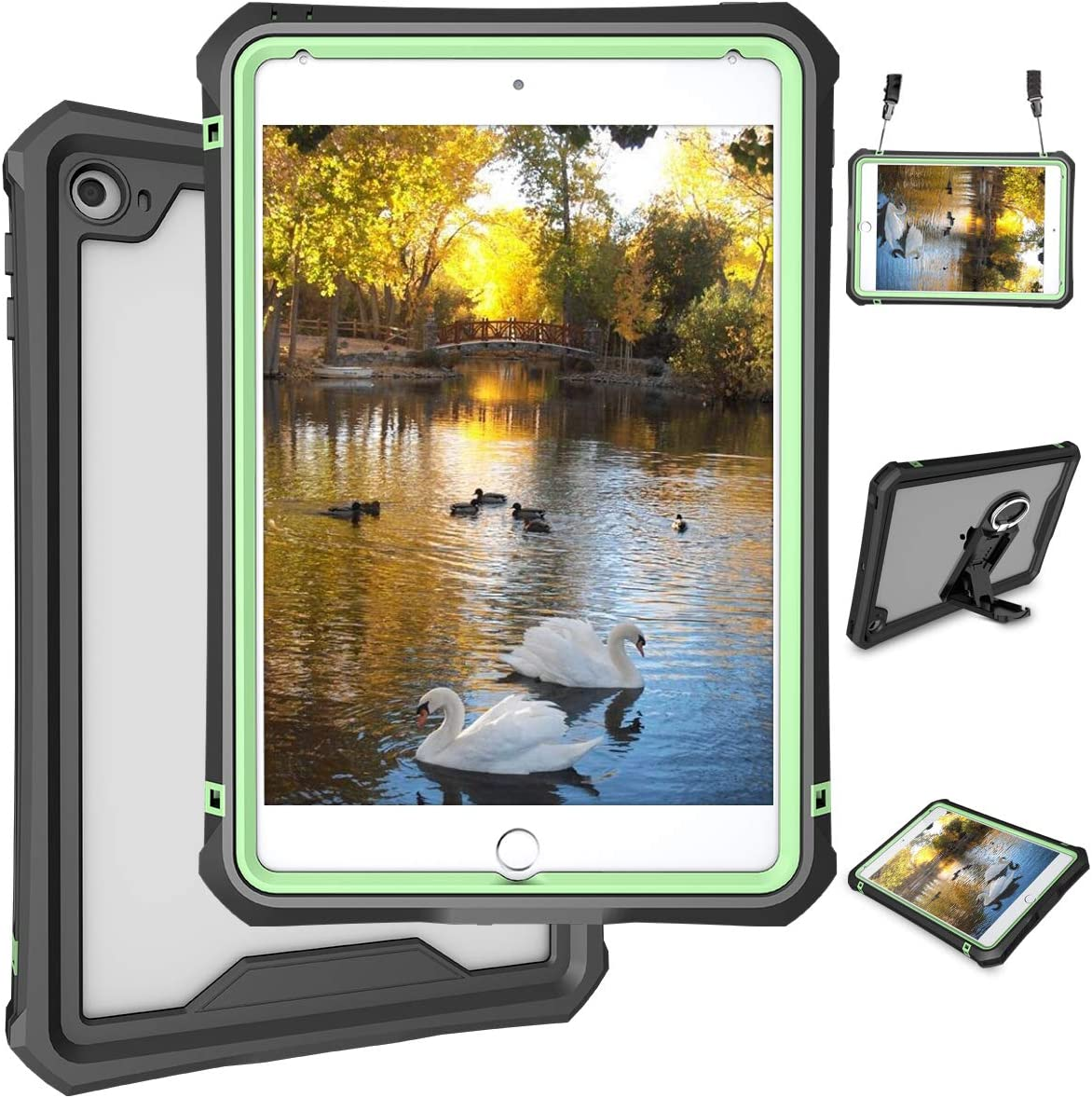 """iPad Mini 5 Case - Waterproof Case for iPad Mini 5 Full Body Bumper Case with Built in Screen Protector Drop Proof Anti Scratch Shcokproof Case Cover for iPad Mini 5th Generation 7.9"""" 2019"""