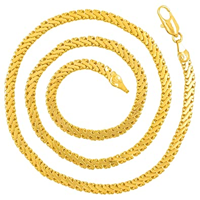 242d7856c1d CH246 Dazzling Yellow Gold Chain for Men/Boys/Boyfriend/Husband & Unisex:  Amazon.in: Jewellery