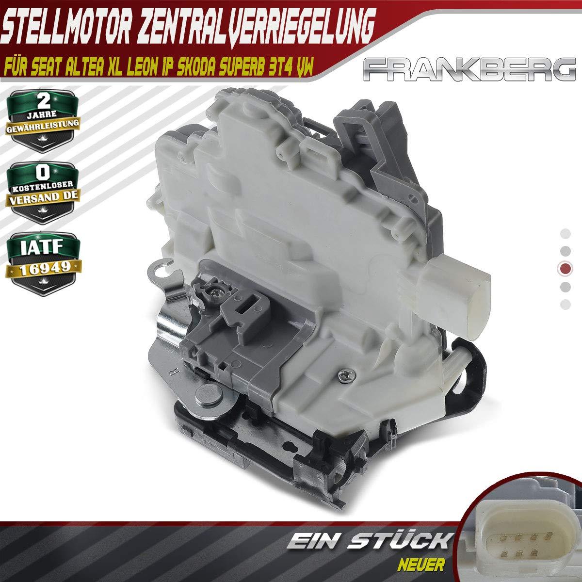 Motor de nivelaci/ón cierre de puerta delantera derecha para Leon 1P Superb 3T EOS 1/F 2004/ /2018