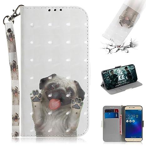 Funluna Funda ASUS Zenfone 3 MAX ZC520TL, 3D Pug Design ...