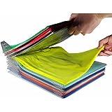 Amazon FBA Prime EZSTAX Clothes Organizer T-Shirt Organizer Cabinet Organizer T-Shirt Clothes Rack Closet Board Organizer Folding Storing Folder Folding Closet Drawer T-Shirt Storage. Best Gift for Christmas. 10 Pcs