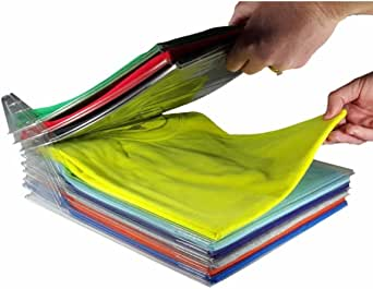 EZSTAX Clothes Organizer T-Shirt Organizer Cabinet Organizer T-Shirt Clothes Rack Closet Board Organizer Folding Storing Folder Folding Closet Drawer T-Shirt Storage. Best Christmas. 10 Pcs