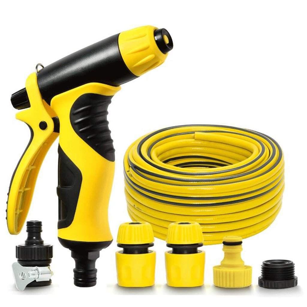 Hongyan Watering Can Garden Nozzle Hoses Reels 5 Ways Showers Car Cleaning Flower Watering Spray Supplies Garden Car Wash Watering Equipment Nozzles Spray Guns Drip Systems(50M) A+ (Size : 5M)