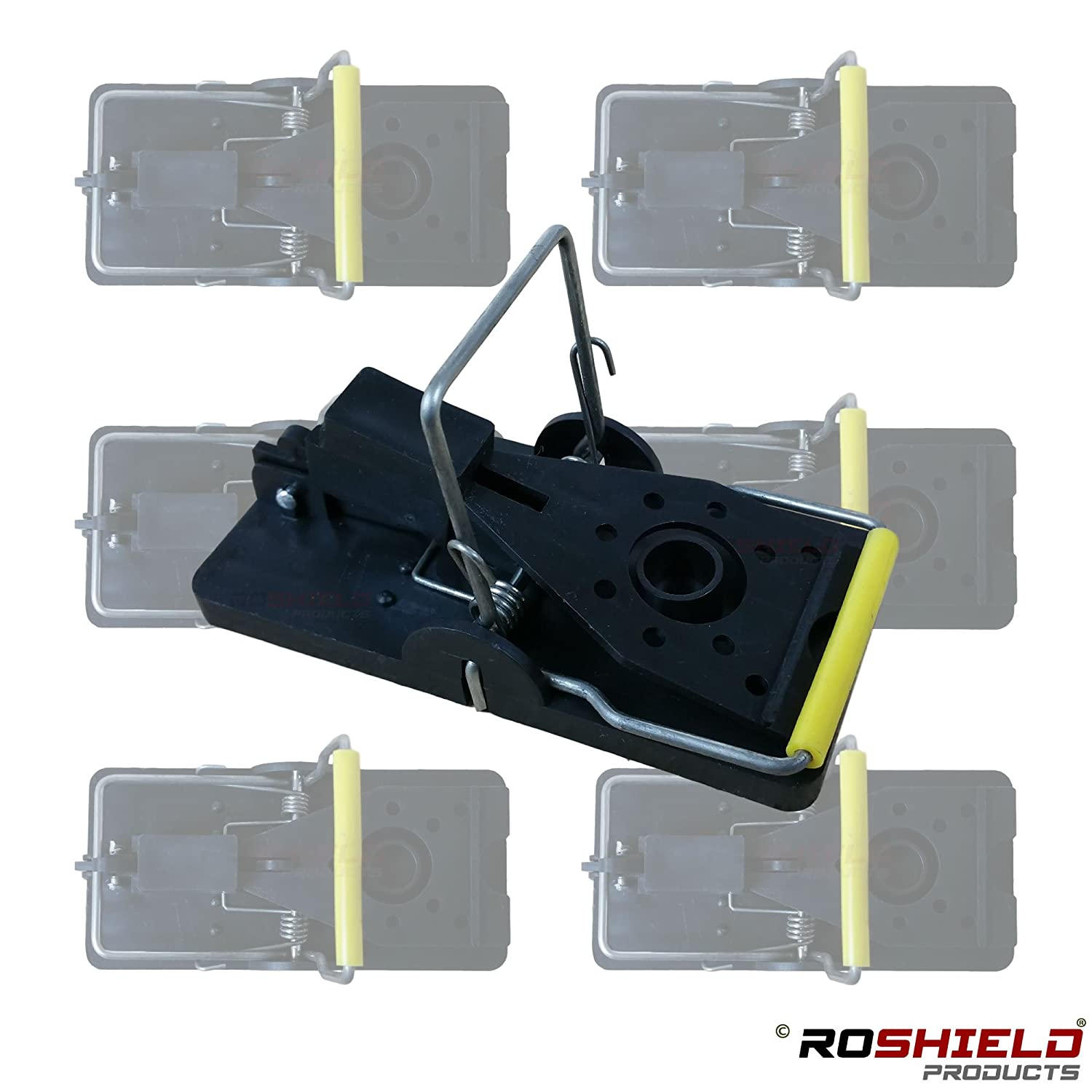 6 x Roshield Mouse Traps - Professional Heavy Duty Control Traps for Mice Seaheaven Ltd IQ-DTF9-3ZDZ