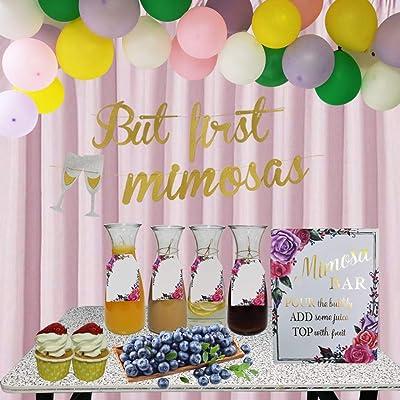 Mimosa Bar Banner Wedding Party Bridal Shower Celebration Sign Decor Decoration