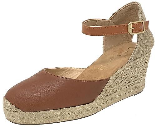 Unisa Caceres_18_ST Cobre, Alpargata Mujer Metal Cobre: Amazon.es: Zapatos y complementos
