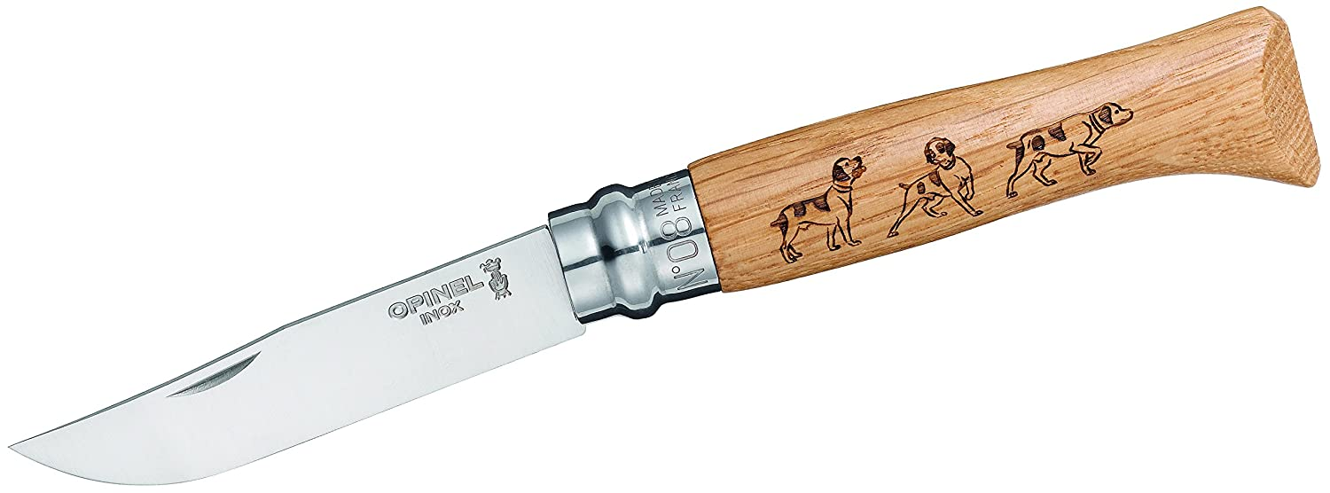 Opinel N Degree8 Animalia Dog Boxed Stainless Steel Knife, 8.5 cm Blade