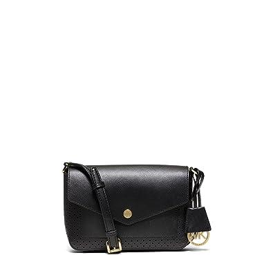 e5430cb45c0d Amazon.com: Michael Kors Greenwich Small Saffiano Leather Crossbody in Black:  Shoes