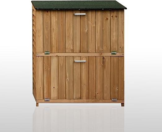 Jarsya - Armario zapatero de exterior para terraza y jardín, de madera, 103 x 56 x 79 cm, Scarparia: Amazon.es: Jardín