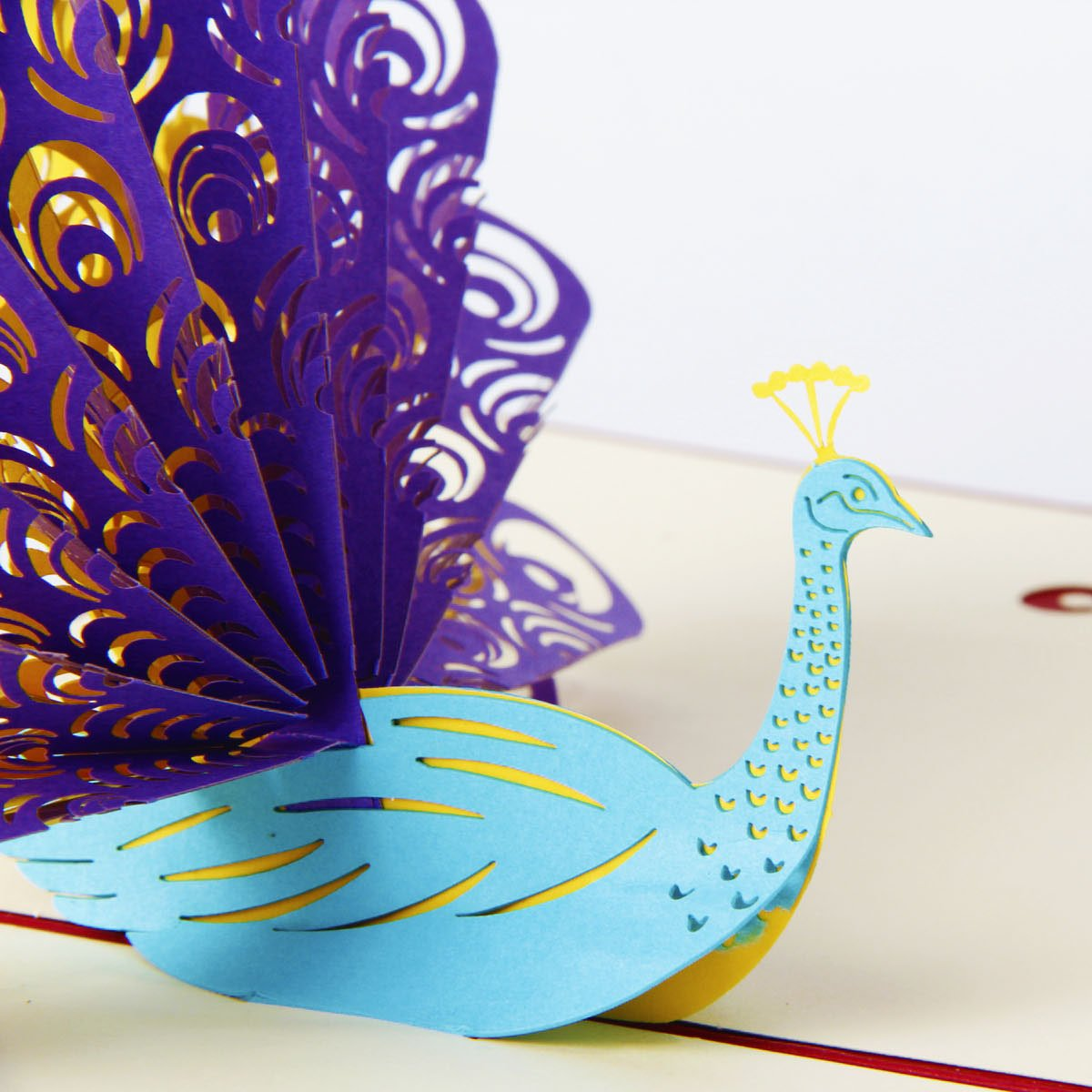 Amazon paper spiritz peacock pop up birthday card for wife amazon paper spiritz peacock pop up birthday card for wife husband kids day card and envelopes handmade 3d anniversary wedding cards graduation kristyandbryce Image collections