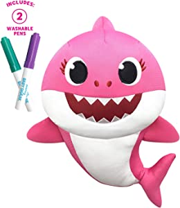 Pinkfong Baby Shark - Doodle Me Doll - Mommy Shark - Preschool Plush - by WowWee