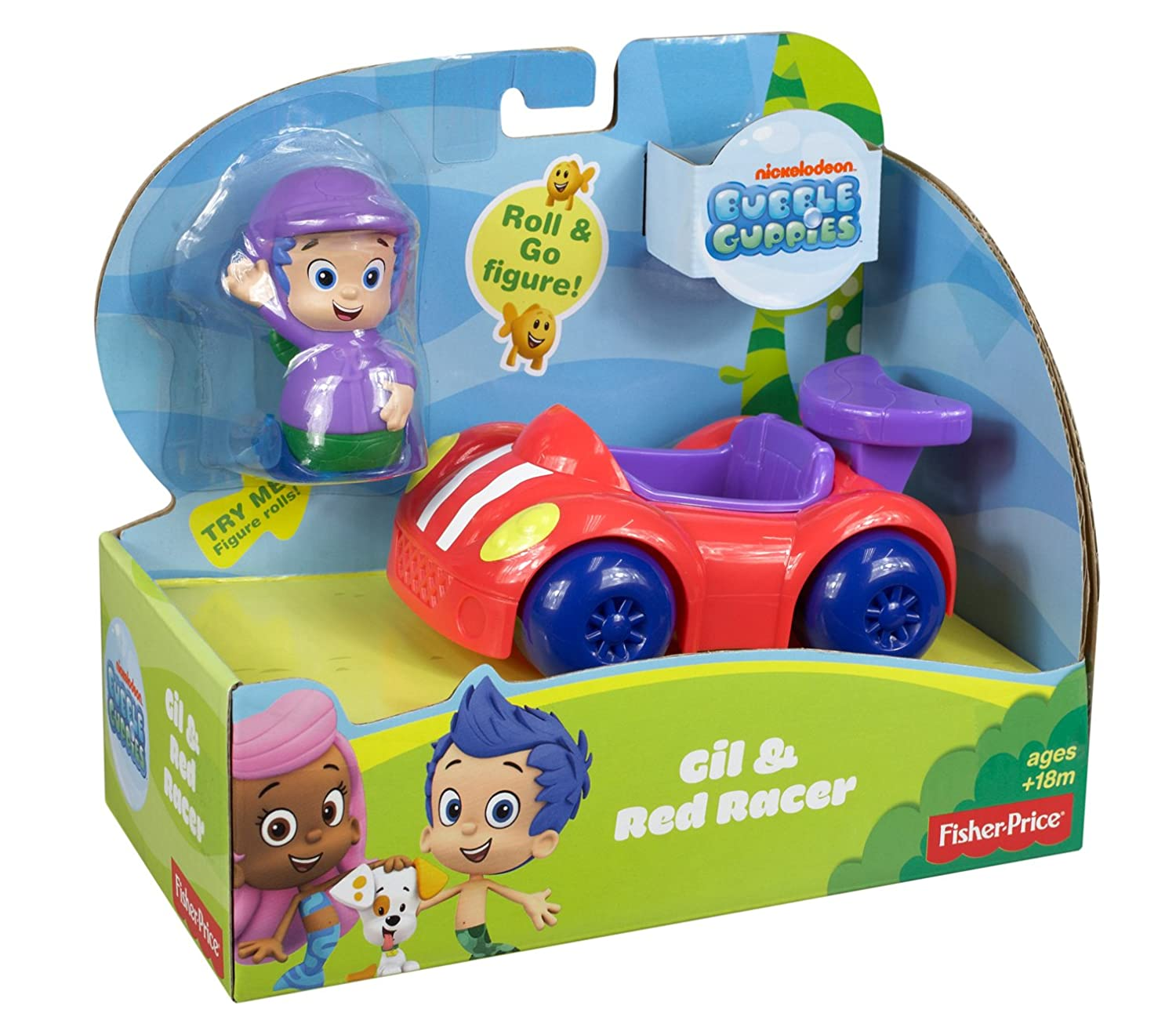 fisher price nickelodeon bubble guppies gil and red racer amazon