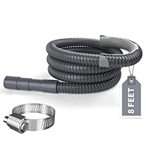 Hosom Heavy Duty Washing Machine Drain Hose 8 Feet, Washer Discharge Extension Hose