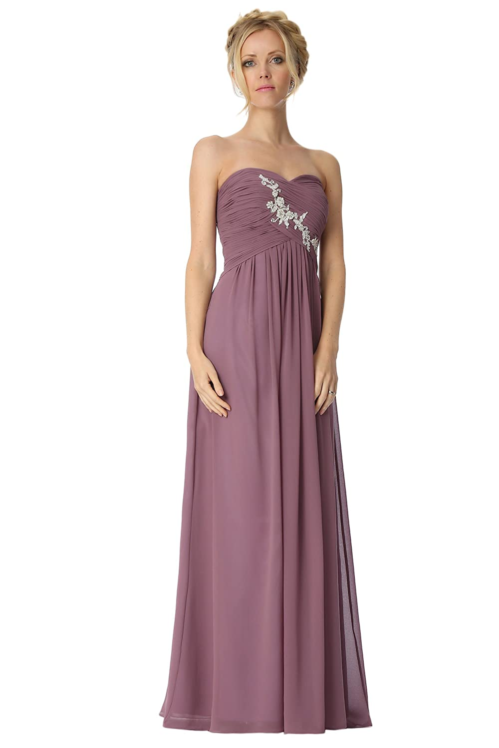 SEXYHER Strapless Criss-Cross ruching Bridesmaids Formal Evening Dress -EDJ1791