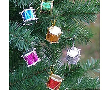 Colorful Christmas Tree Decorations.Buy Vmp Set Of 12 Christmas Tree Drum Ornaments Hanging