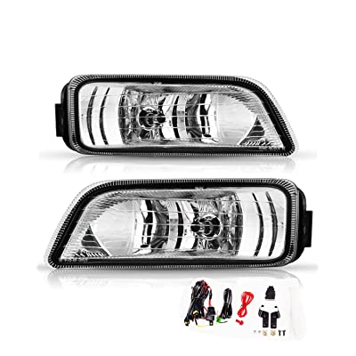 AUTOFREE Fog Lights for 2006 2007 Honda Accord 4 Door, Driving Fog Lamps Replacement assembly with Bulbs H11 12V 55W and Clear Lens,Wiring Kit and Switch included,1 Pair(Left and Right): Automotive