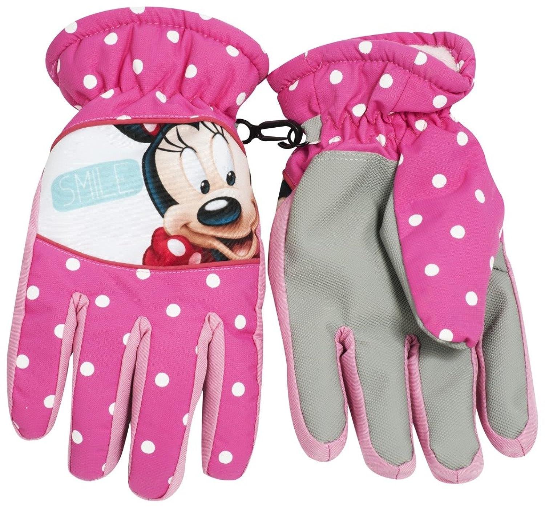 Disneys Minnie Mouse Winter Handschuhe gefüttert mit gummierter Grifffläche und besonders breitem Bund