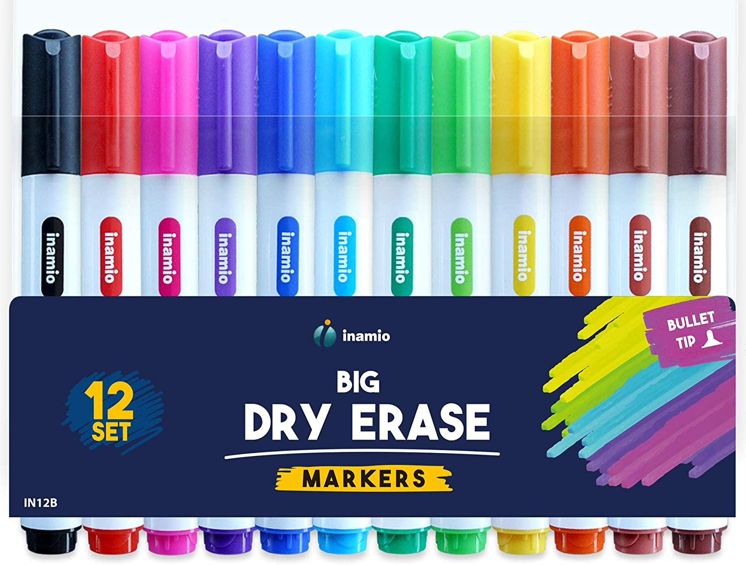 Details about  /Large Black Drywipe Markers White Board Marker Pens Bullet Tip whiteboard pens