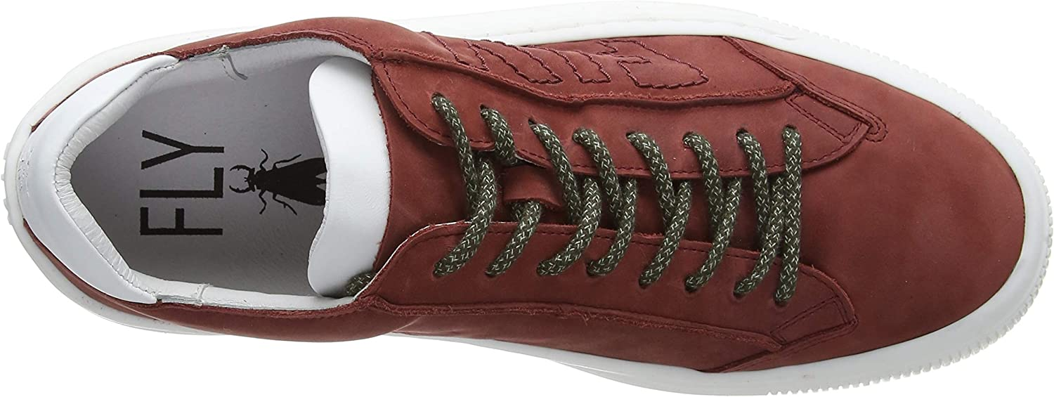 Fly London Sepa355fly, Baskets Homme Rouge Bordeaux Offwhite White Sole 001