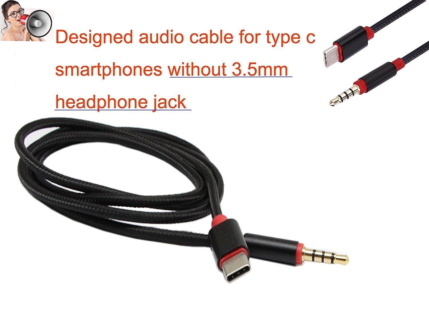 Geekercity Type C To 35mm Car Aux Cable Audio Jack 3 5mm Headphone Wiring Adapter Usb Male Extension Stereo Cord For Motorola Motoz And
