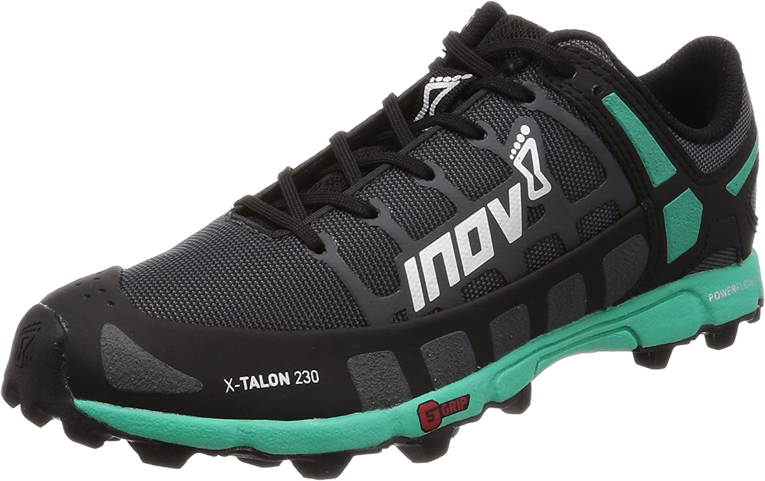 INOV-8 Womens X-Talon 230 – Lightweight OCR Trail Running Shoes – for Spartan, Obstacle Races and Mud Run – Grey Teal 9 W US