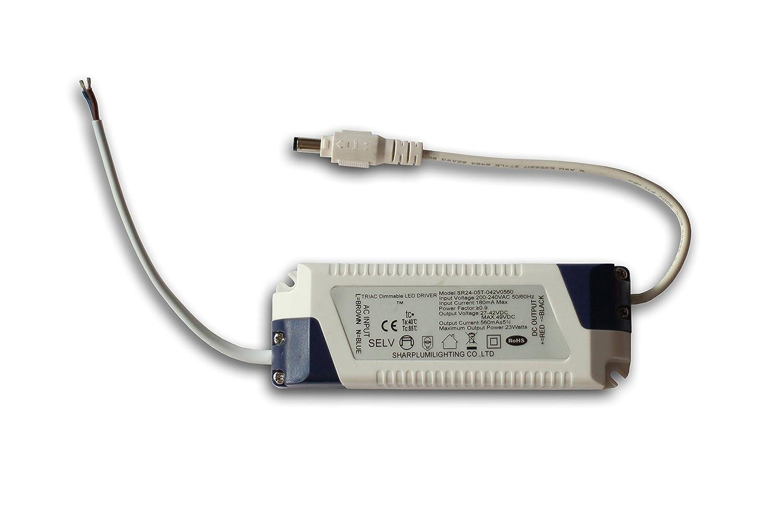 LED Panel 60x30cm 24 Watt TXL© silbereloxiert IP40 (Neutralweiss 4000K, Mit Deckenhalterung) [Energieklasse A+]